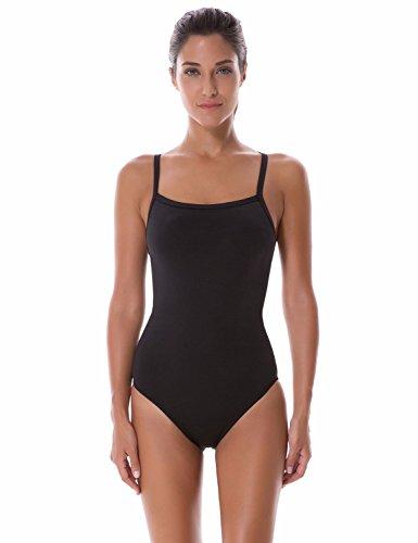 b71286b2fa1ab SYROKAN Damen High Neck Sports Badeanzug – Einteiler Reißverschluss ...