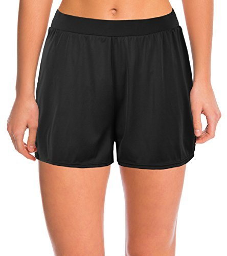 632b240f6054d7 Septangle Damen Einfarbig Schwimmshorts Große Größen Strand Shorts  Bikinihose